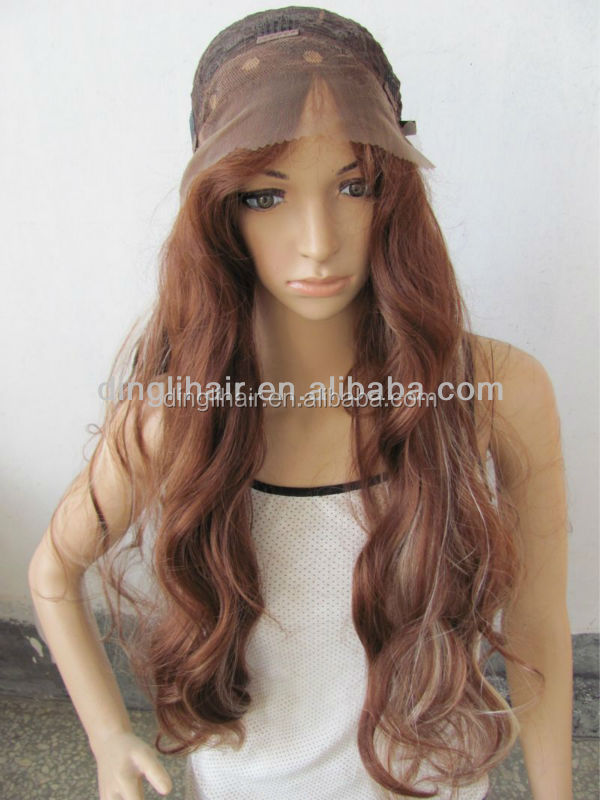 High quality China manufacture mixed color loose wave synthetic wig