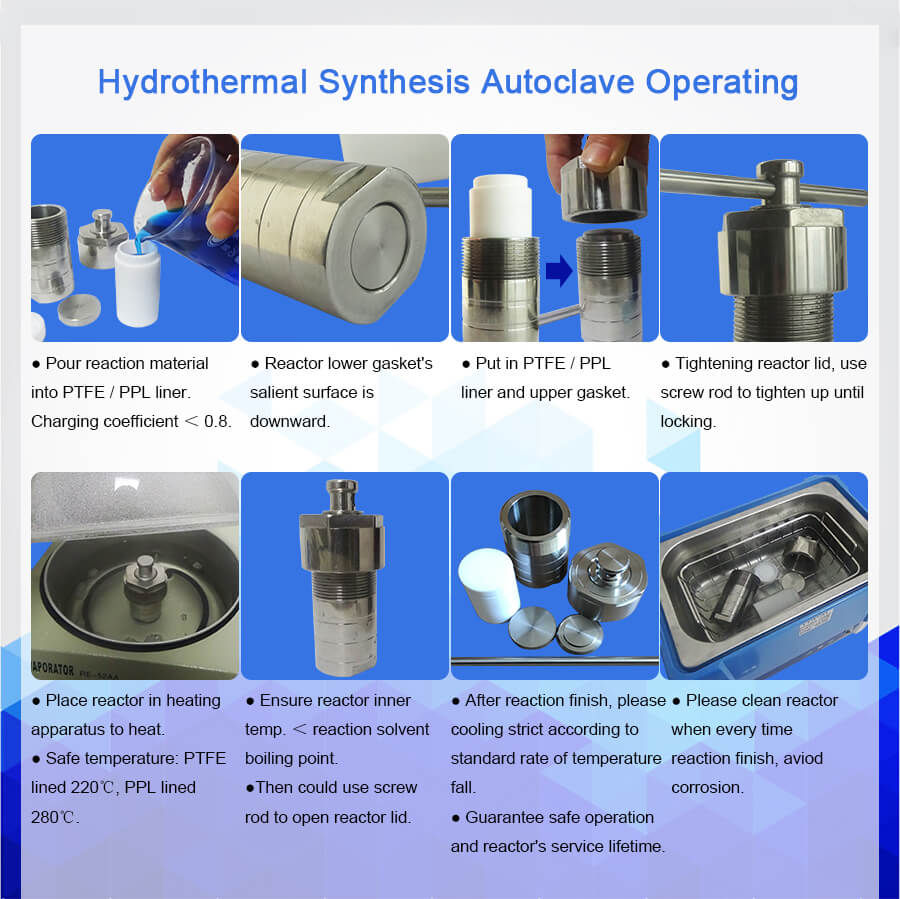 50ml PPL Hydrothermal Synthesis Stainless Steel Reactor,Lab High Pressure And Temperature Autoclave