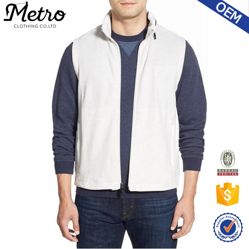 OEM Custom Cheap Wholesale Men No Sleeve White Vest