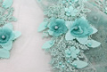 3d flower beaded lace fabric bridal lace embroidered french lace fabric