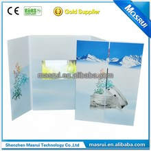2016 Fashion Video handmade paper card video greeting card