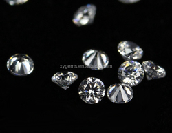 China cubic zirconia manufacturers no hole beads white synthetic diamond