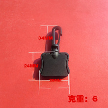Hot sale black spring plastic swivel snap hooks for backpacks