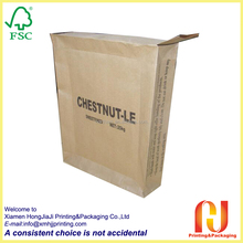 automatic machine made kraft valve paper bag for cement