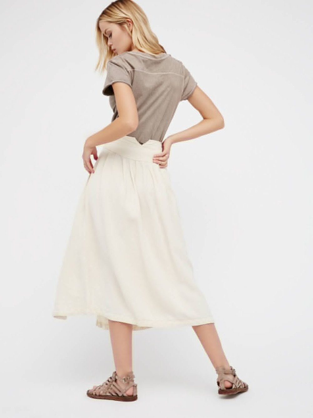 New Stylish Women's Fashion A-Line Loose Stroll Skirt