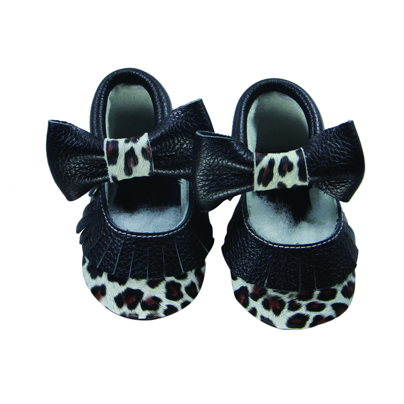 Latest Leopard 2017 Baby Shoes Deer leather shoes