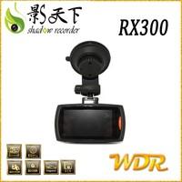 RX300 G-sensor radar detector car dvr camera with GPS tracking