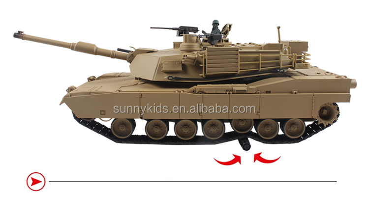 Newest 2.4G henglong RC Tank 3918 metal remote control tank Abrams M1A2