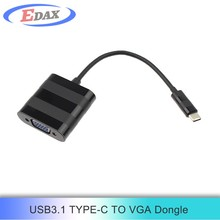 1080P 2k*4k resolution usb3.1 type c to vga adapter connect usb d-sub display adapter