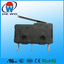 Latching micro switch spdt 5a 125v, car power window switch for electric vehicle
