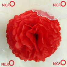 Factory Price !!! Hanging Decoration Paper flowers Wedding Decoration Tissue Paper Pompoms For