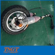 electric tricycle front fork with brake system