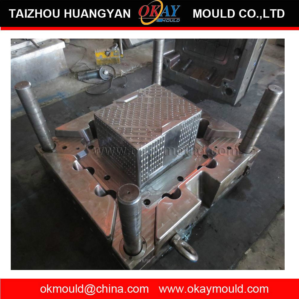 custom plastic injection bread crate moulds maker