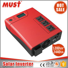 HOT 1.2KVA 2.4KVA UPS Off grid Hybird solar inverter power system with PWM AC charger 1.2kva/2.4kva