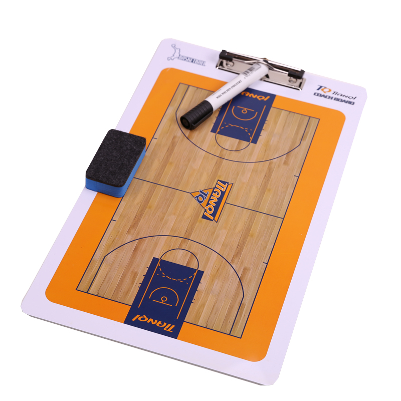 Basketball tactic board with clip