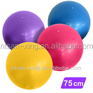Professional manufacture fitness transparent yoga ball with low price