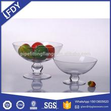 Nice Design Glass Dessert Salad Ice Cream Cup With Stem Clear Glass Ice Cream Bowl