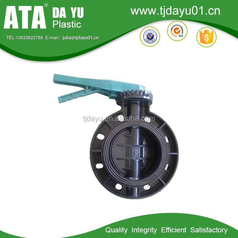 Manual/Pneumatic/Electric/Worm Gear actuator upvc butterfly valves