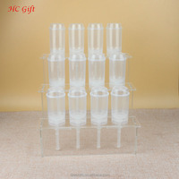 High transparent acrylic cake push pop stand acrylic display stand