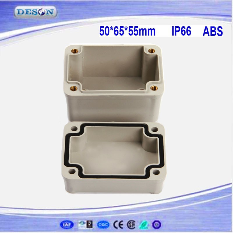 50*65*55mm Electrical ABS/PC IP66 Waterproof Outlet Box , Waterproof Box Series DS-AG-0506