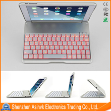 Aluminum alloy keyboard with Back light hot selling model in B2C market keyboard Blue tooth Cover Case for iPad Air