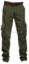 Mens Pants Cotton cargo Trousers Multi-Pocket