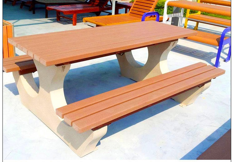 1800mm length Outdoor Furniture HDPE Recycling Plastic Bench Table