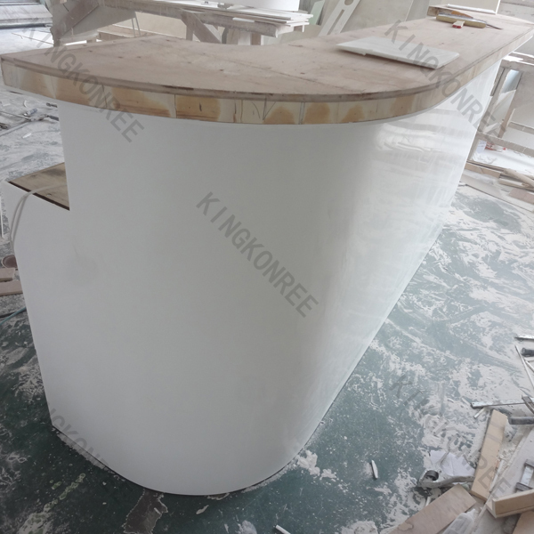 custom size small salon reception desk