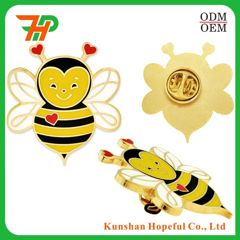 Lovely Colorful Soft Enamel Metal Honey Bee Lapel Animal Pins