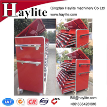 Powder Coating Cold Rolled Tool Cabinet With Lock Aluminum Handles and movable casters