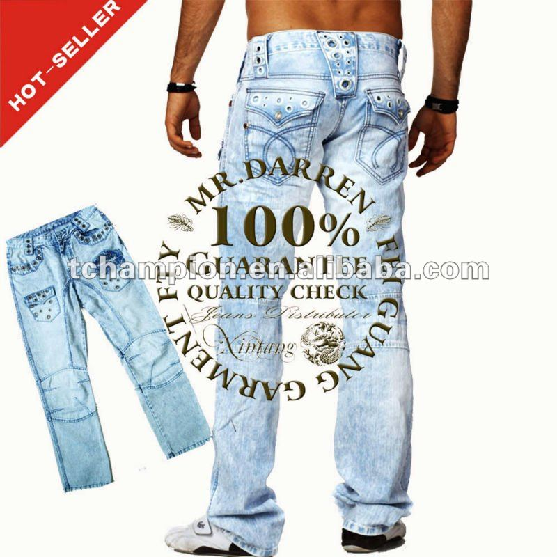 (#TG008M) 2012 Top Embroidery Pocket Design K M Jeans