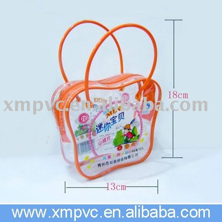Cute handle PVC jelly packaging for food,candy D-HB146