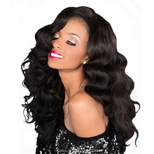 100% human hair remy hair full lace wig #1 wavy 20inch free shipping