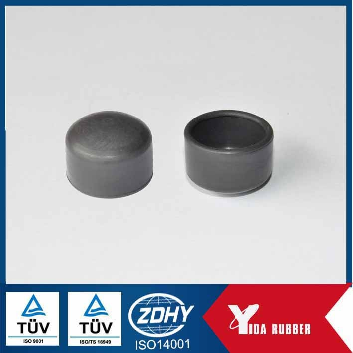 China OEM custom molded rubber caps, chair leg protect rubber end caps, rubber cover