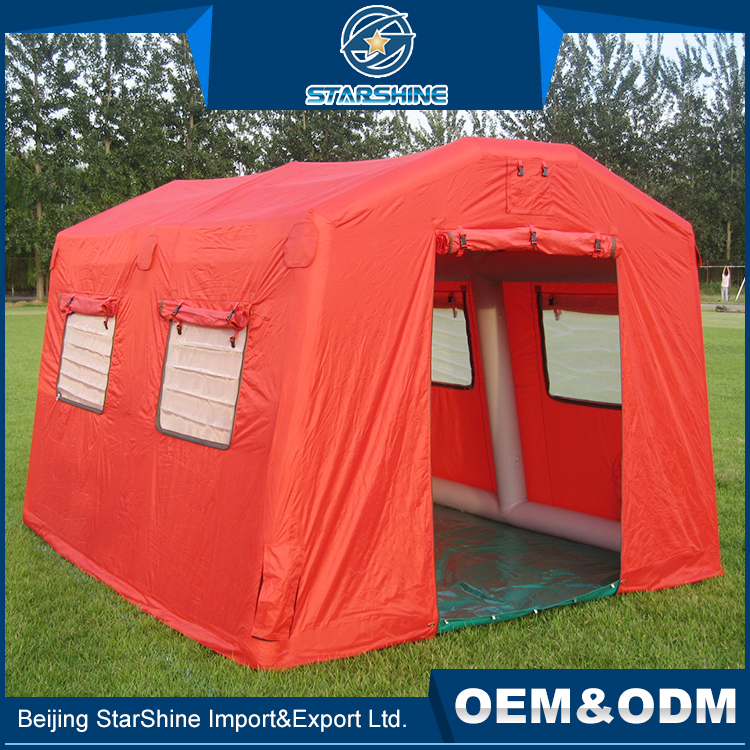 Factory Wholesale Easy Assembly Temporary Air Tent Large Inflatable Survival Disaster Shelter