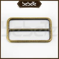 High quality customized 1 inch bag accessory metal tri-glide pin buckle