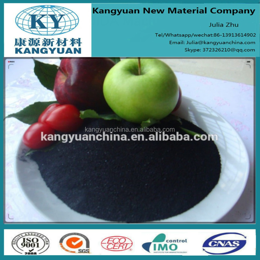 organic fertilizer 65% humic acid, 95% water solubility sodium humate granular in agriculture and industry