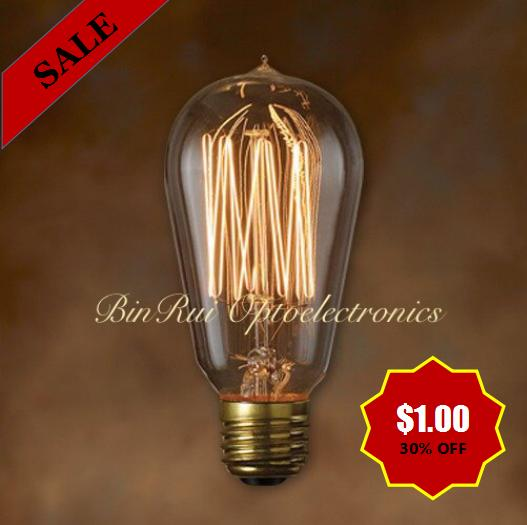 ST57/ST18 40W/120V/Squirrel Cage Incandescent Edison light bulbs