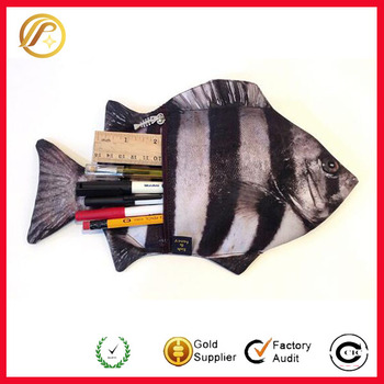 2016 New creative emulational fish pouch cute fish shape mobile phone bag
