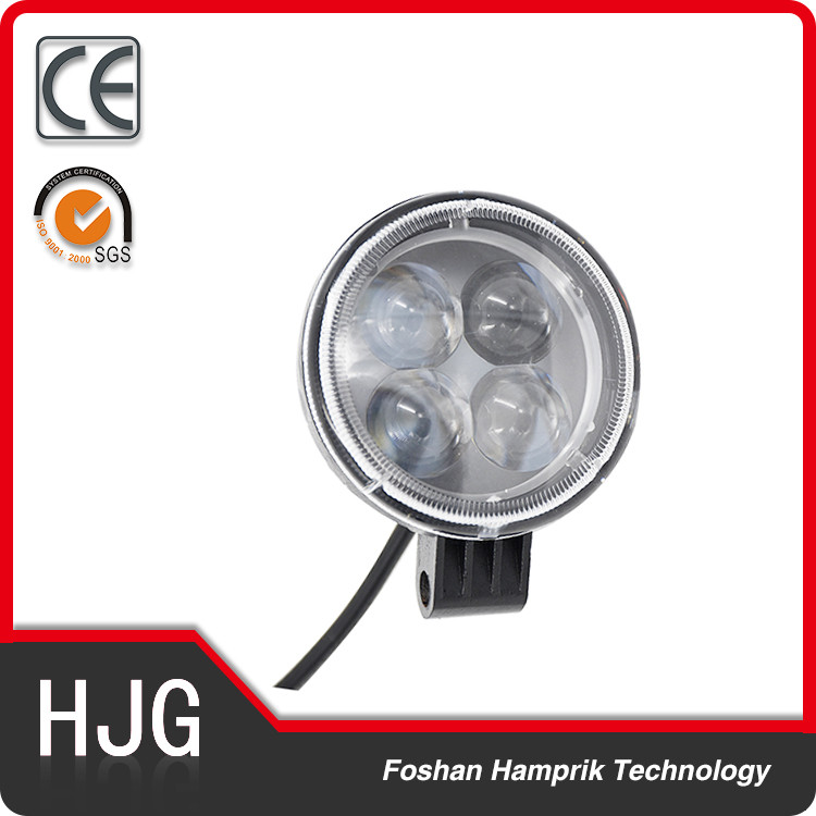 12W flood beam led headlight for auto led daytime running light 12v round led light bar