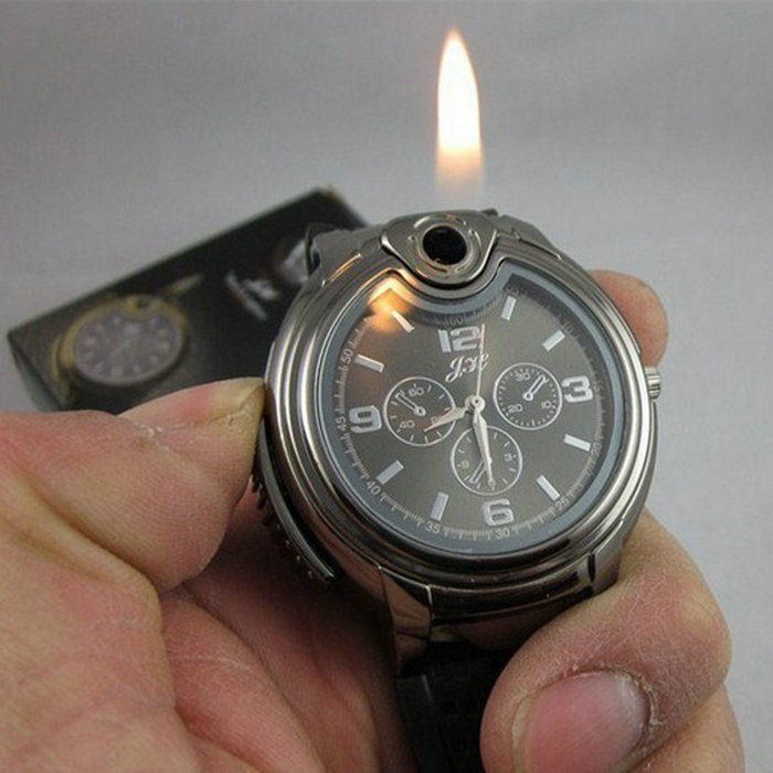 2016 Military Lighter Watch Novelty Man Quartz Sports Refillable Gas Cigarette Cigar Men Watches Luxury Brand relogio masculino