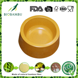 Personalized factory price traditionary bamboo fibre powder cat feeding bowl