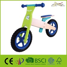 Spirit Blue Wood Balance Bicycles as Kids Ride on Toy Bikes