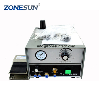 ZONESUN Pneumatic Engraving Machine Double Ended Graver max Graver Tool Jewelry Engraver with 2 handpieces supply