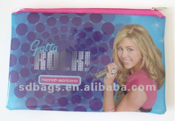 pvc zipper pencil bag