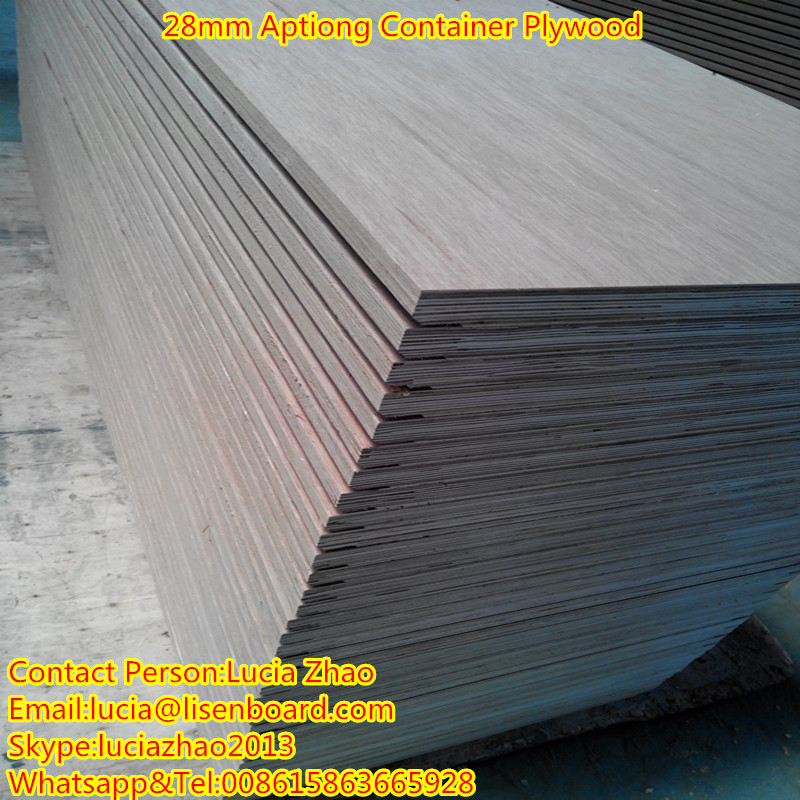 28mm apitong plywood container flooring , container floor plywood , container trailer floor
