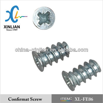 Full thread Nickel plating European Screw