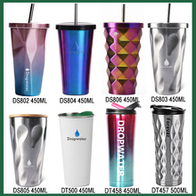 Wholesale 16oz insulated stainless steel glitter gold/silver polishing tumbler