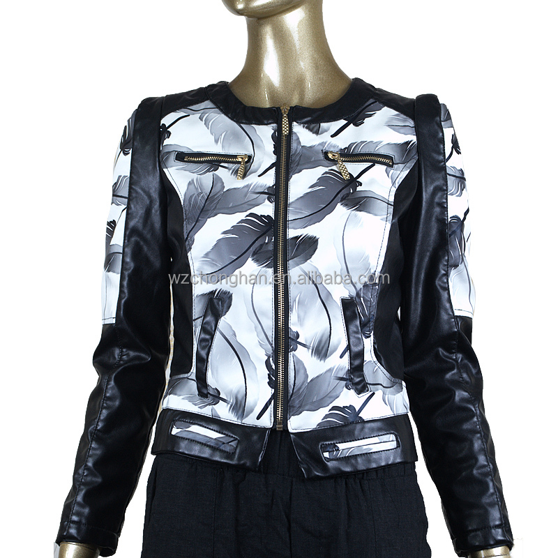 new designs color leather jackets for women