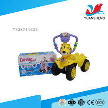 popular product plastic cartoon tiger shape kids used ride on toys with light and music
